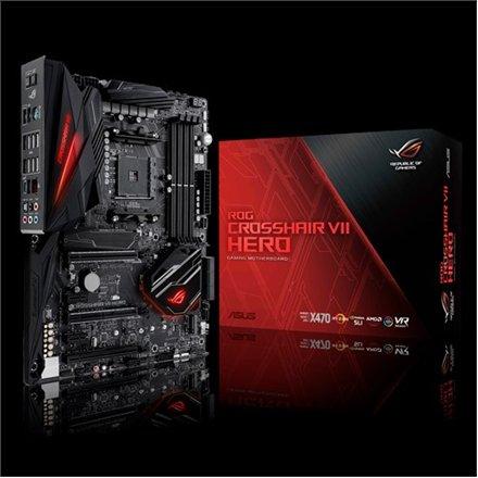 Asus 90MB0XJ0-M0EAY0 Asus ROG CROSSHAIR VII HERO Processor family AMD,  Processor socket AM4, DDR4, Memory slots 4, Chipset AMD X, ATX