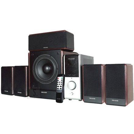 MicroLab Microlab FC-730 5.1 Speakers/ 84W RMS (12Wx5+24W)/ Remote Control/ Amplifier/ Wooden