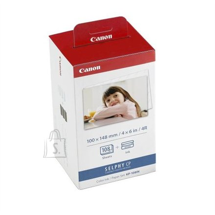 Canon Canon KP-108IN Colour Ink Cartridge with 108 Sheets postcard size (100 x 148mm) paper (for Selphy CP series)