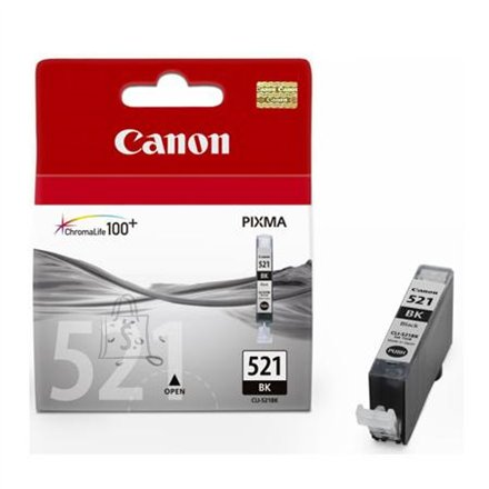 Canon Canon CLI-521BK Black Ink Tank (for Pixma IP3600/IP4600/MP540/MP620/MP630/MP980), 1875 p.@ A4 5%