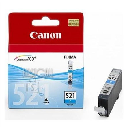 Canon Canon CLI-521C Cyan Ink Tank (for Pixma IP3600/IP4600/MP540/MP620/MP630/MP980), 505 p.@ A4 5%