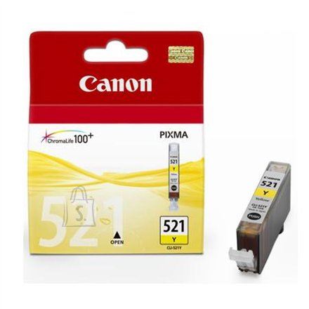 Canon Canon CLI-521Y Yellow Ink Tank (for Pixma IP3600/IP4600/MP540/MP620/MP630/MP980), 505 p.@ A4 5%