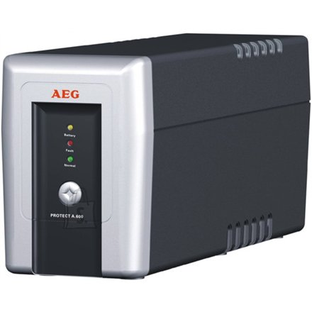 AEG AEG UPS Protect.A 500, 500VA / 300W / 3x IEC-320 battery protected/ 1x IEC-320 overvoltage protection / Fax line protection / USB / RS232 / Automatic Voltage Regulation / Line interactive / ~10 minutes backup time / CompuWatch Software for Windows, Linux, Mac