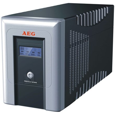AEG AEG UPS Protect.A 1000, 1000VA / 600W / 4x IEC-320 battery protected/ 2x IEC-320 overvoltage protection / Fax line protection / USB / RS232 / Automatic Voltage Regulation / Line interactive / ~30 minutes backup time / CompuWatch Software for Windows, Linux, Mac