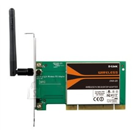D-Link D-LINK DWA-525, (Bulk) DESKTOP WIRELESS N 150 PCI ADAPTER is a draft 802.11n, Up to 4 times farther than 802.11g. Support 802.11g and 802.11b wireless networks. Ad-hoc and Infrastructure operation modes. WEP, WPA, WAP2 encryption support.