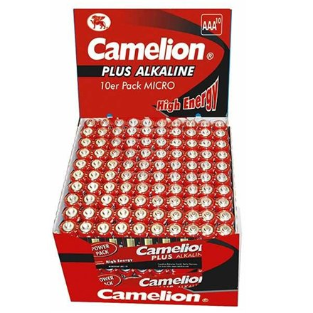 Camelion Camelion Plus Alkaline AAA (LR03) Display Box (20x10pcs) Shrink Pack, 1170mAh