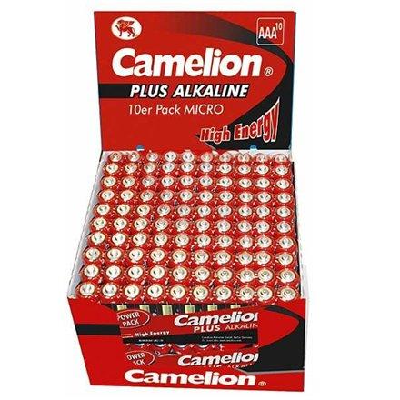 Camelion Plus Alkaline AAA (LR03) Display Box (20x10pcs) Shrink Pack, 1170mAh