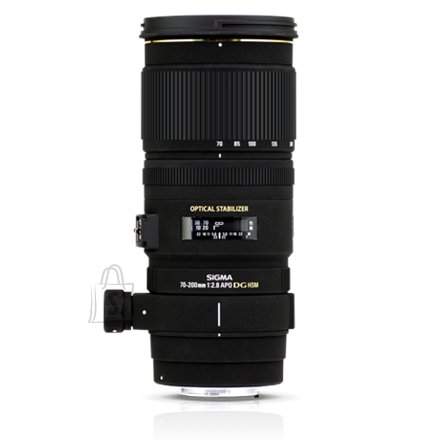 Sigma Sigma EX 70-200mm F2.8 DG OS HSM for Nikon, 22 Elements in 17 Groups, Angle of View: 34.3 - 12.3 degrees, 9 Blades, Filter size 77mm, Minimum Focusing Distance: 140cm.