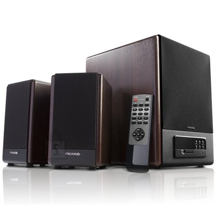 MicroLab Microlab FC-530U 2.1 Speakers/ 64W RMS (18Wx2+28W)/ Remote/ FM Radio/ USB, SD Card Slots/ Plays MP3, Radio without PC