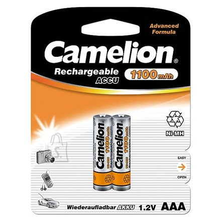 Camelion Camelion Rechargeable Batteries Ni-MH AAA (R03), 1100 mAh, 2-pack (NH-AAA1100BP2)