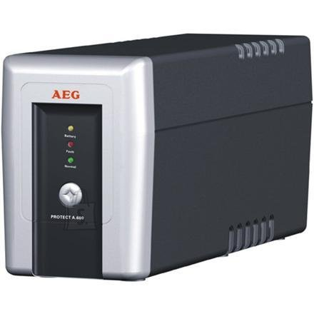 AEG AEG UPS Protect.A 700, 700VA / 420W / 3 + 1 x IEC 320 C13 Load outputs/ Phone, fax & modem protection / USB / RS232 / Automatic Voltage Regulation / Line interactive / ~20 minutes backup time / CompuWatch Software for Windows, Linux, Mac