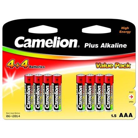 Camelion Camelion Plus Alkaline AAA (LR03), 8 (4+4) value pack