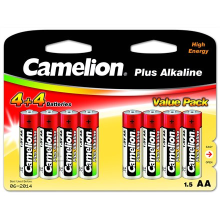 Camelion Camelion Plus Alkaline AA (LR06), 8 (4+4) value pack
