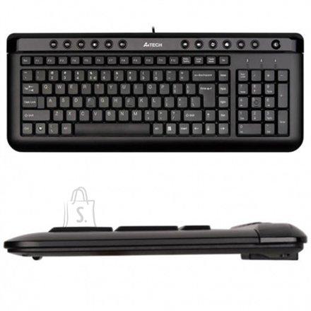 A4Tech õhuke must klaviatuur, USB, US/Leedu