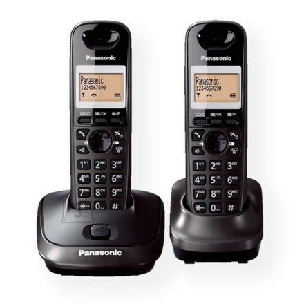 Panasonic Panasonic KX-TG2512FXT Cordless phones, Black /  LCD display/ Memory 50 numbers / Memory for 50 incoming numbers / Auto-repeat, dialing station number, ringtone 10, selectable tone 32 /   MUTE, FLASH, HOLD functions  / SMS / Wall-mount option