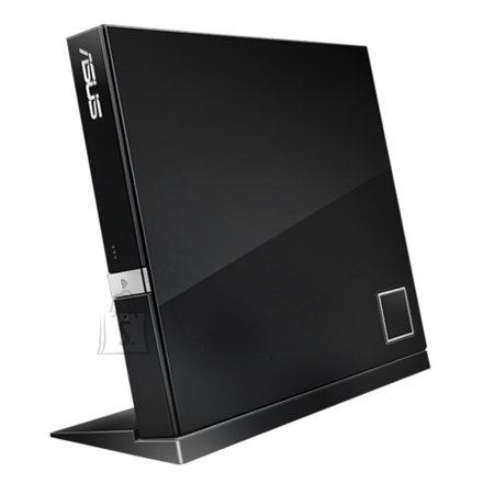 Asus ASUS SBW-06D2X-U Black external slim 6X Blu-ray, BDXL Support - Maximum Data Storage up to 128GB, Blu-ray 3D support, 2D to 3D DVD conversion, DVD upscaling to HD 1080p