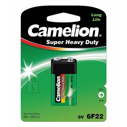 Camelion Camelion Super Heavy Duty 9V Block (6F22), Green, 1 pcs