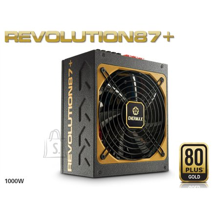 Enermax Modulare PSU Revolution 87+, 1000 W; 80PLUS Gold/DXXI/ Modular/ ATX v2.3/ Magnetic Bearing 135mm FAN/ Active PFC/ Black