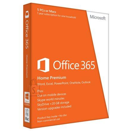 Microsoft Microsoft 6GQ-00020 Office 365 Home Premium 32-bit/x64 English Subscription 1 License Eurozone Medialess 1 Year