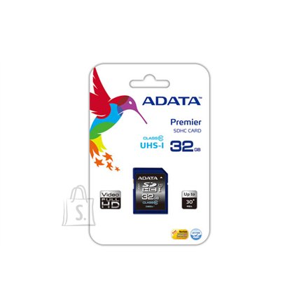 A-Data A-DATA 32GB Premier SDHC UHS-I U1 Card (Class10) read/write speeds of up to 50/33 MB/sec Retail