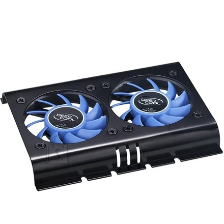 "Deepcool HDD cooler, 2 x  60x60x10 mm fan,Compatible with all standard 3.5"" Hard Disk Drive."
