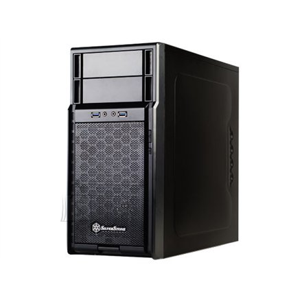 Silverstone Silverstone Precision PS08B, Mini tower, USB 3.0 x2, black w/o PSU, micro-ATX