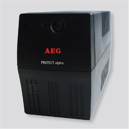 AEG AEG UPS Protect alpha. 800/ 800VA, 480W/ 4x IEC-320 battery backup and overvoltage protection / Fax. Modem line protection / USB / Automatic Voltage Regulation / Line interactive / Free UPS shutdown software download