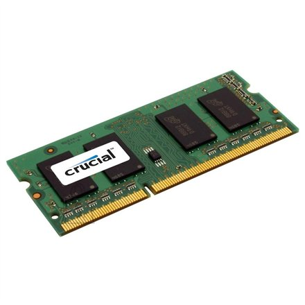 Crucial Crucial 4GB 204-pin SODIMM DDR3 PC3-12800, CL=11, Unbuffered, NON-ECC, DDR3-1600, 1.35V, Single Ranked