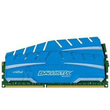 Crucial Crucial 8GB kit (4GBx2) DDR3 Ballistix DIMM 240pin,  DDR3-1866, PC3-14900,  1.5V, Unbuffered NON-ECC, 512Meg x 64, CL-10-10-10-30