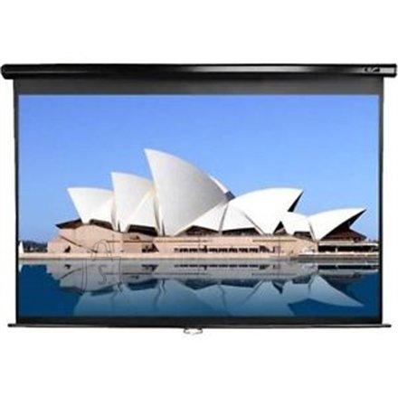 "Elite Screens M113NWS1 113"" 1:1 manuaalne valge projektori ekraan"