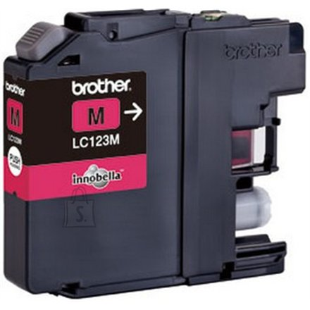 Brother LC123M Magenta tindikasett 600 lk
