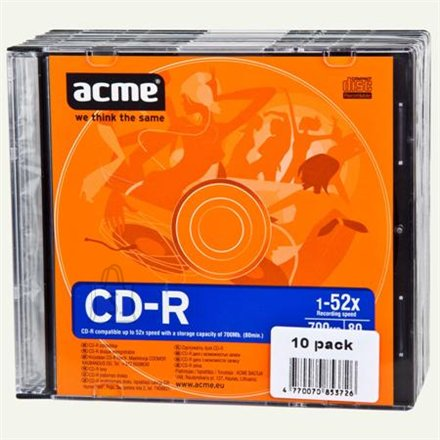 ACME toorik CD-R 80/700MB 52X 10tk