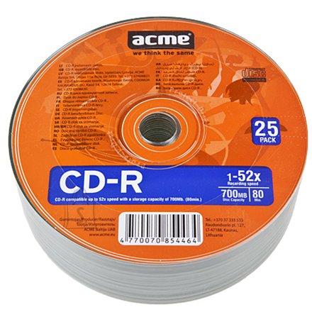 ACME toorik CD-R 80/700MB 52X 25tk