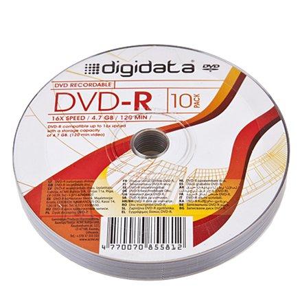 Digidata DVD-R 4.7GB 16X 10pack shrink