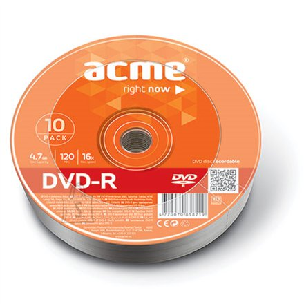 ACME toorik DVD-R 4.7GB 16X 10tk