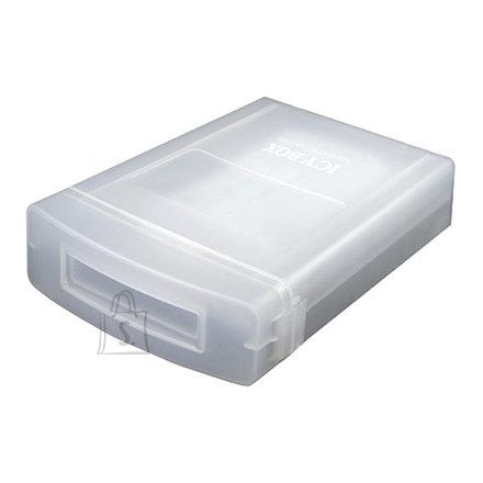 "RaidSonic Icy box 3,5"" Hard drive protection box Anti-Shock, Dust free, Stackable"