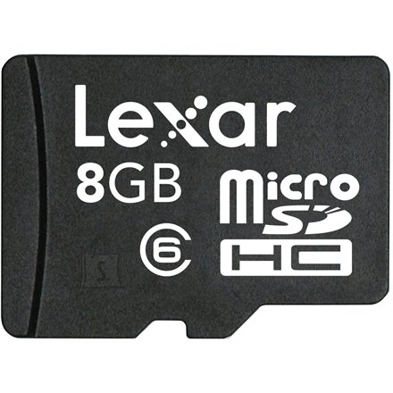 Lexar Lexar 8GB microSDHC C6 Moble with adapter