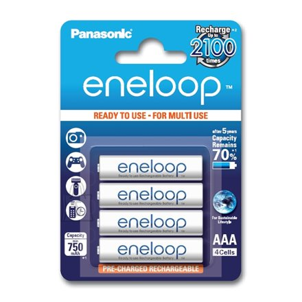 Panasonic Eneloop Ready To Use Rechargeable Battery 4x AAA BK-4MCCE-4BE (800mAh)/ Recharge 2100 Times