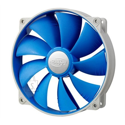 Deepcool 140mm Ultra silent fan with patented De-vibration TPE cover, BLUE, for case and psu