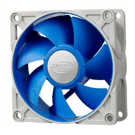 Deepcool Deepcool 80mm Ultra silent fan with patented De-vibration TPE cover, BLUE, for case and psu
