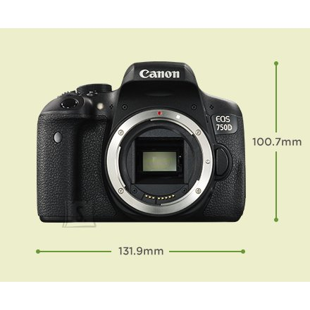 Canon EOS 750D peegelkaamera + 18-55IS STM