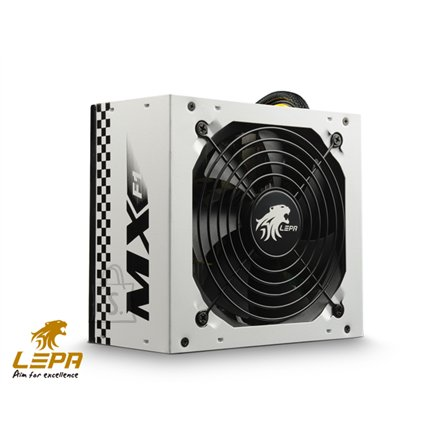 Lepa MX F1 series  High efficiency up to 86%, Active PFC PSU, 120mm FAN, retail packing 500 W, 500W (408W on +12V; 34A) W