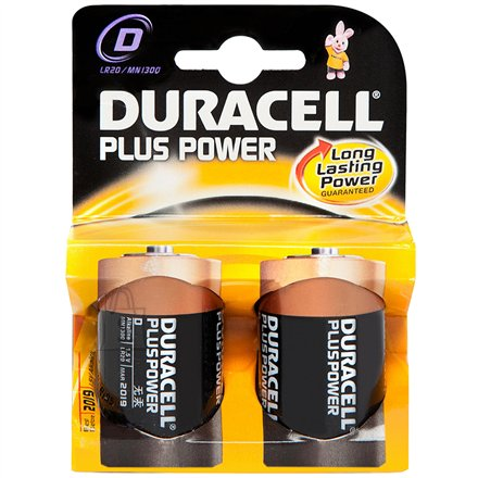 Duracell patareid D/LR20 Plus Power MN1300 2 tk