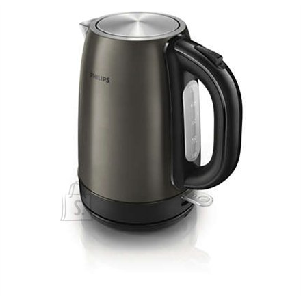 Philips Philips HD9322/82 Standard kettle, Stainless steel, Titanium, 2200 W, 360° rotational base, 1.7 L