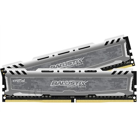 Crucial Crucial Ballistix Sport 8GB(2x4GB) DDR4-2400, Unbuffered NON-ECC, 1.2V, PC4-19200