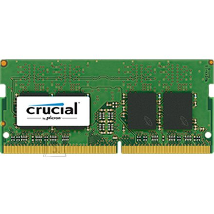 Crucial Crucial 8GB DDR4 SODIMM PC4-19200 2400MT/s, CL=17, Single Ranked x8, Unbuffered, NON-ECC, 1.2V, 1024M x 64