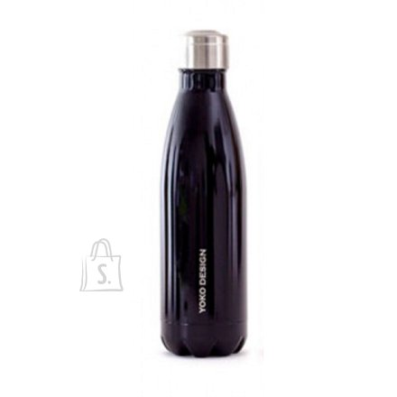 Yoko Design Yoko Design Isothermal Bottle 500 ml, Shiny black