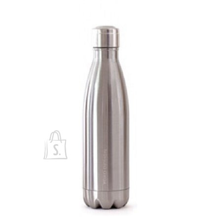 Yoko Design Yoko Design Isothermal Bottle 500 ml, Shiny silver