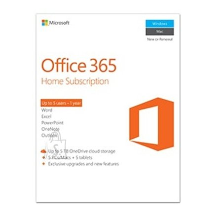 Microsoft Microsoft 6GQ-00684 Office 365 Home Full packaged product (FPP), License term 1 year(s), English, Medialess
