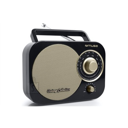 Muse Muse Portable radio M-055RB Black/Gold, AUX in